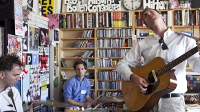 The Walkmen perform a Tiny Desk Concert at NPR headquarters in Washington, DC on Tuesday, June 26, 2012.